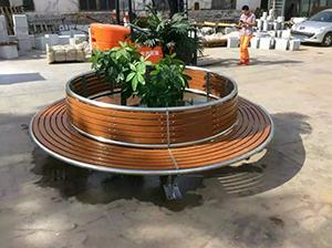 安康户外公园桌椅定做_西安专业安康公园椅,认准志诚塑木