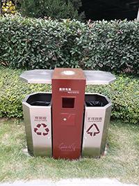 商洛不銹鋼垃圾桶定做-志誠塑木高性價商洛垃圾桶