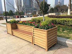 銅川護欄隔離花箱批發|價格實惠的銅川花箱就在志誠塑木