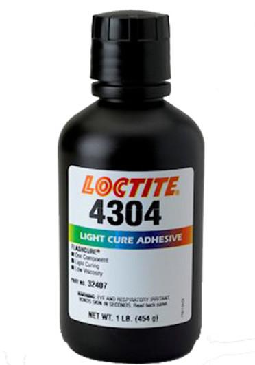 正品乐泰4304胶水紫外线胶玻璃金属塑料粘接UV胶
