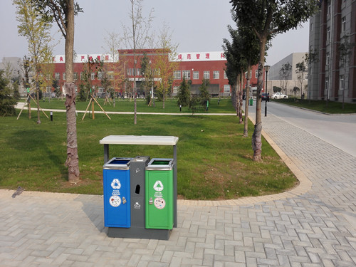 西安铸铝垃圾箱定制-志诚塑木提供专业的西安塑木地板
