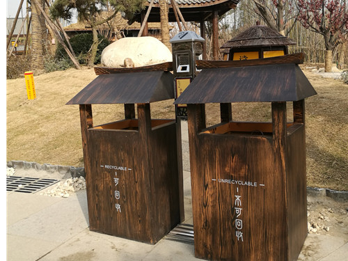 西安不锈钢垃圾桶定制厂家-物超所值的西安塑木地板志诚塑木供应