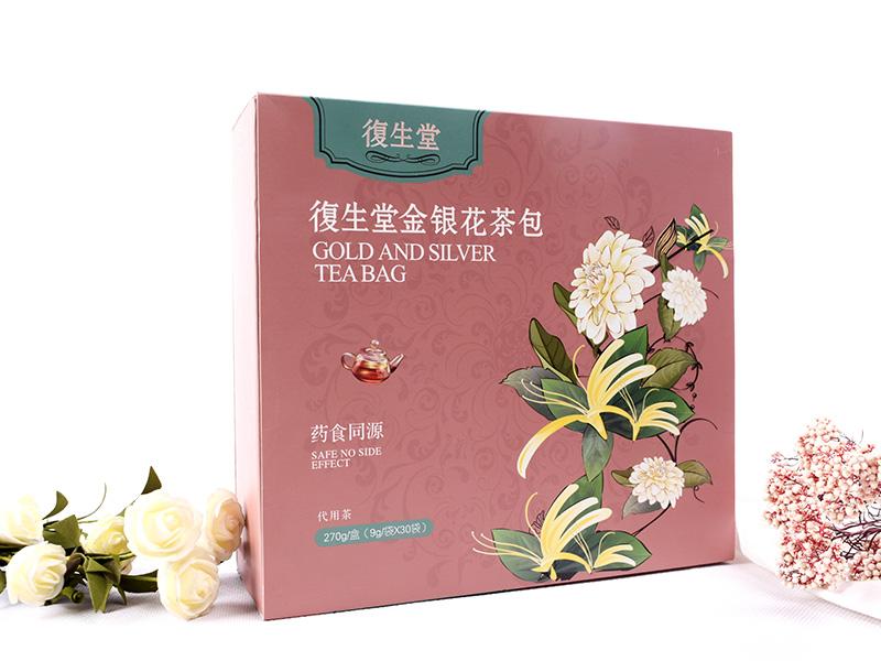 中药降火祛痘茶饮信息_泉州口碑好的復生堂金银花茶包批发供应