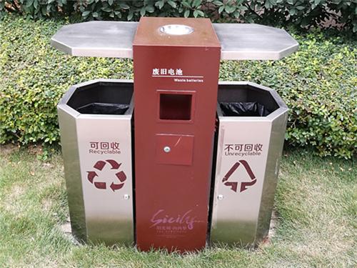 北京果壳箱定制-实惠的北京垃圾桶志诚塑木供应