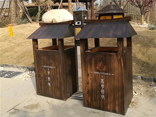 成都LED太阳能果皮箱定做-购置成都垃圾桶优选志诚塑木