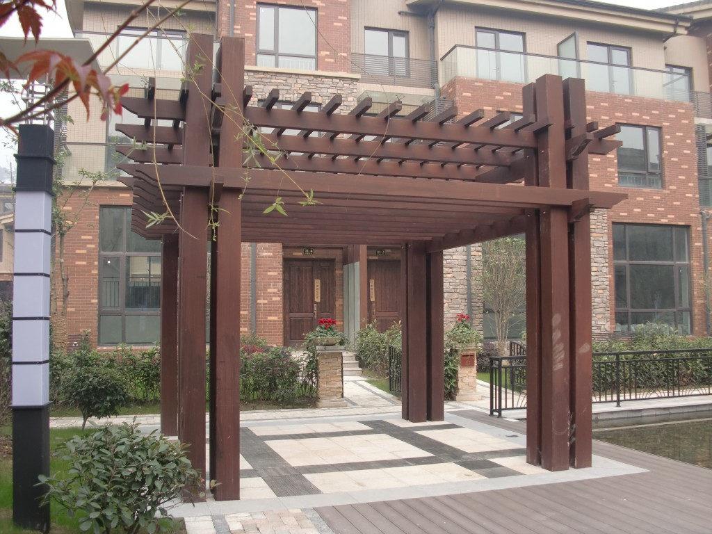 防腐木花架价格-西安品牌好的成都塑木护栏提供商