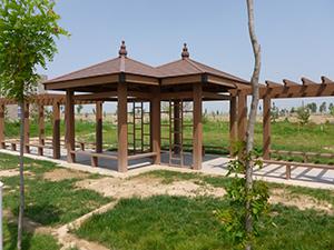 河南防腐木花架厂家|西安专业的塑木护栏批发商