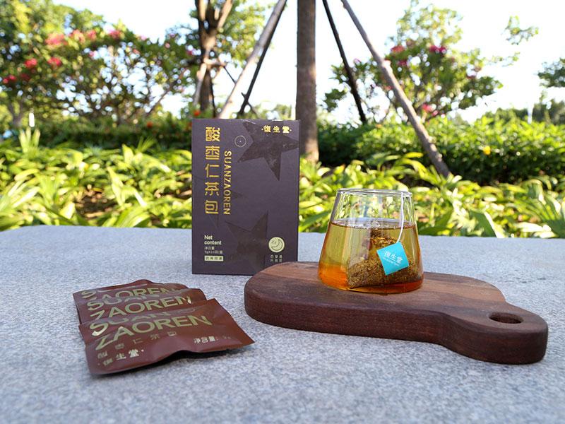 促销改善睡眠茶饮_泉州销量好的復生堂酸枣仁茶包批发供应