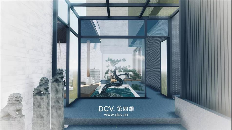 西安-缦居民宿酒店现代极简东方韵味室外园林景观设计