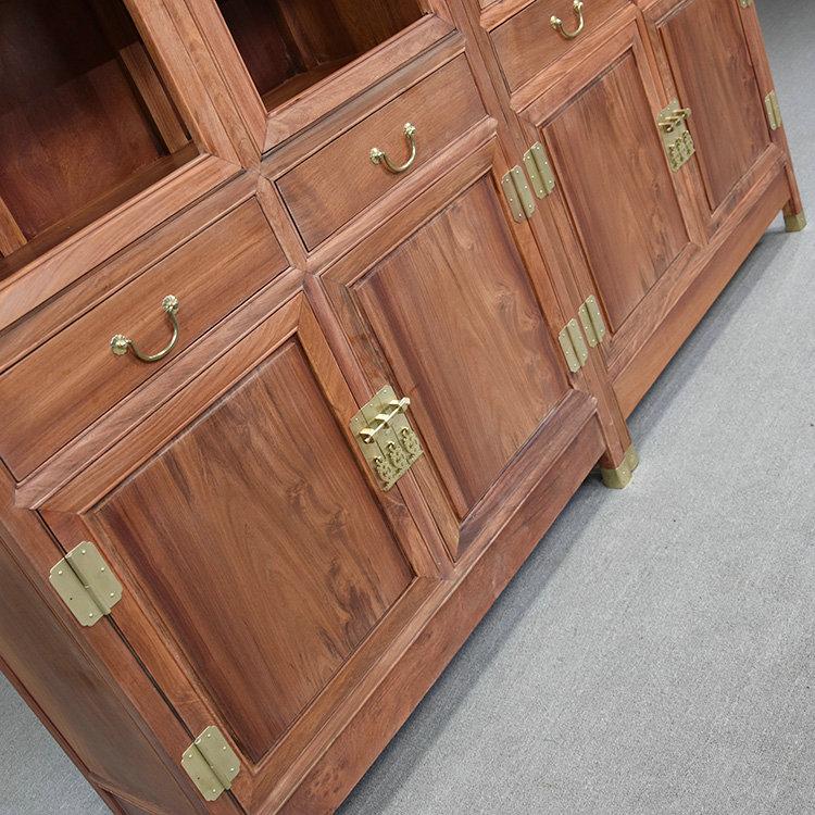 古典緬甸花梨大果紫檀素面書柜紅木文件柜-質量可靠的的緬甸花梨木大果紫檀素面兩組合書柜推薦