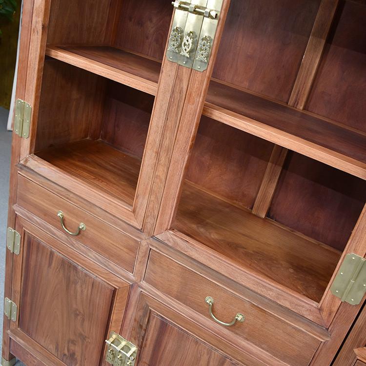 信誉好的缅甸花梨大果紫檀素面书柜红木文件柜-想要齐全的缅甸花梨木大果紫檀素面两组合书柜就来广西兴越阁红木