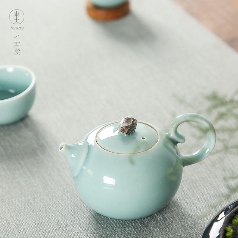简约茶具家用粉青|丽水知名的若溪茶具厂商推荐