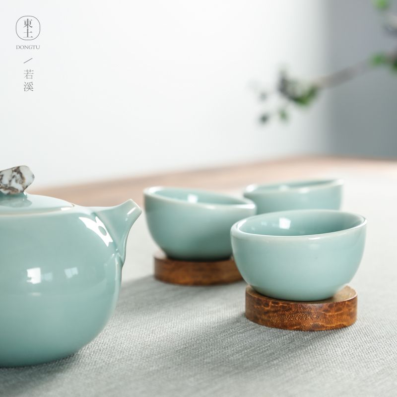 茶具簡潔禮品定製-哪兒能買到製作精巧的若溪茶具