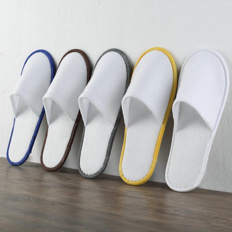 促销一次性拖鞋|声誉好的酒店一次性拉毛布一把包拖鞋供应商当属伊兰美酒店用品有限公司