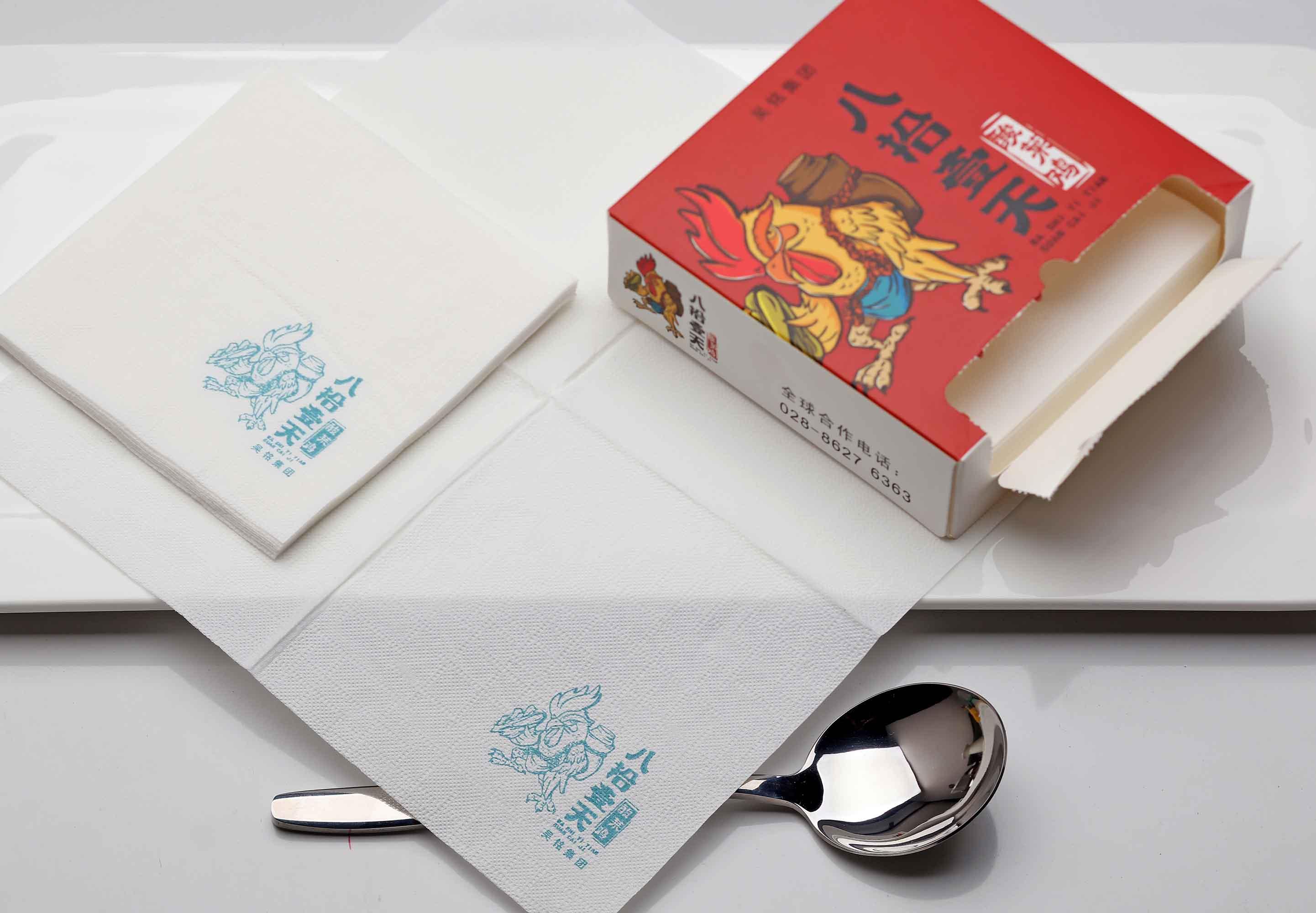 330*330西餐厅方巾纸供应商❀餐厅印花餐巾纸优价定做促销