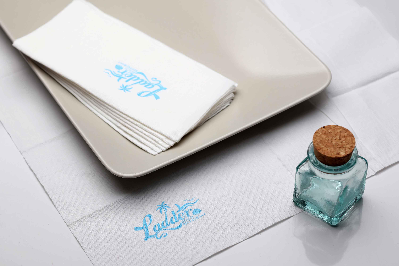 330-400型☚甜品店西餐厅咖啡店餐巾纸▪印花方巾纸♛定制