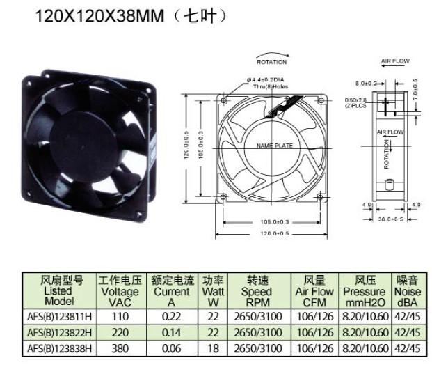 上海连兴电子公司直销120X120X38mm风扇,120X120X38mm风扇厂商