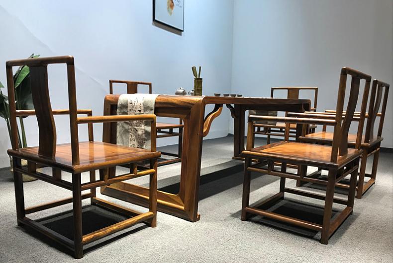 胡桃木实木茶桌尺寸,想买南美胡桃木家具选哪家好