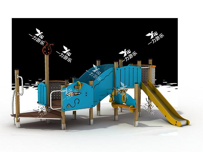 黄山户外组合滑梯-一力游乐好用的大型户外组合滑梯出售