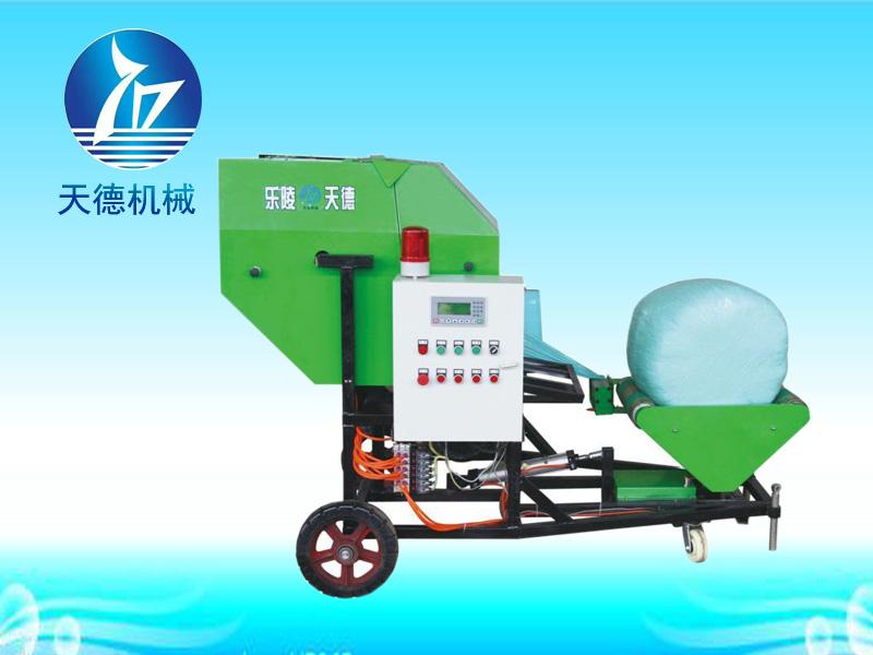 玉米秸秆打捆包膜一体机厂家-买好的玉米秸秆打捆包膜一体机,就选天德机械