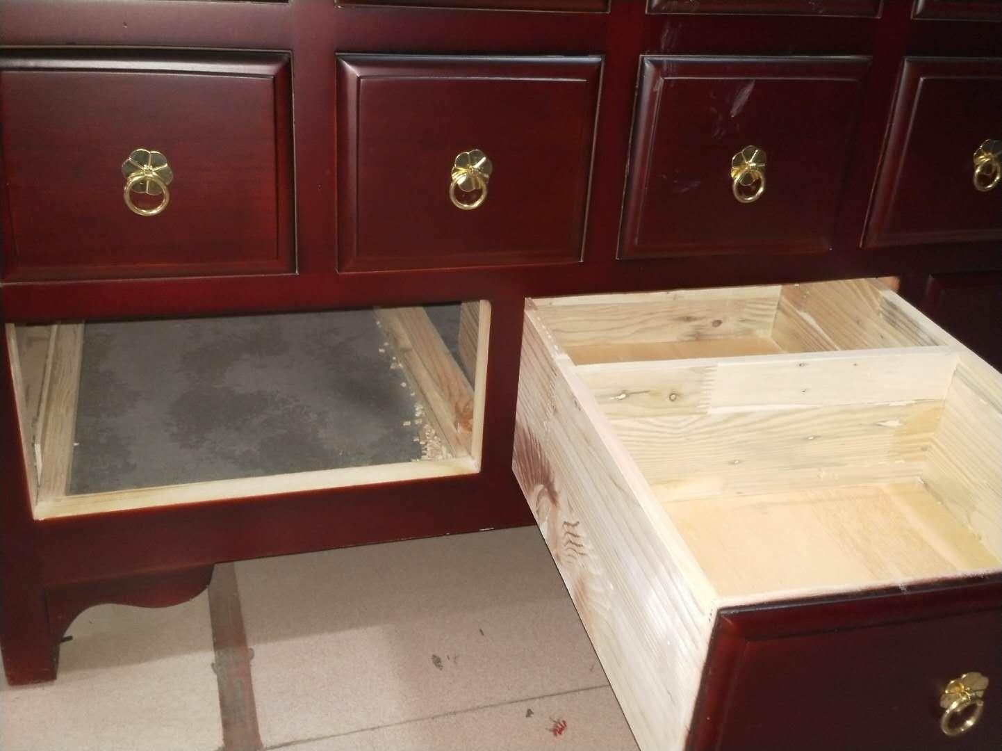 个性实木中药柜|高质量的1.2米百子柜,就在华都中药柜