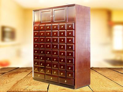 荣昌实木中药柜-如何选购好用的木质开门中药柜
