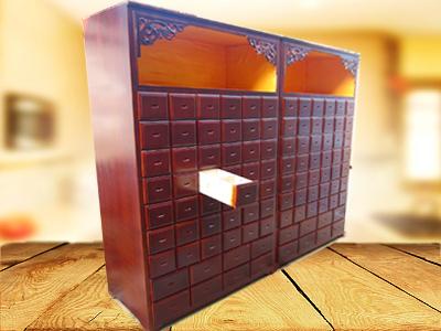 呂梁實木中藥柜-實惠的木質開門中藥柜華都中藥柜供應