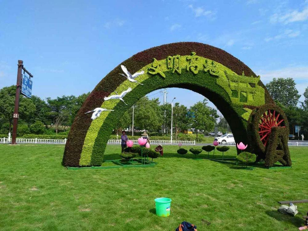 江西口碑好的广场绿雕-江苏精致的广场绿雕供应