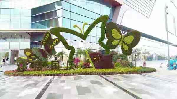 广场绿雕深受热捧-出售江苏创意广场绿雕