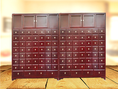 蝙蝠拉手中药柜制造-保定高性价松木中药柜批售