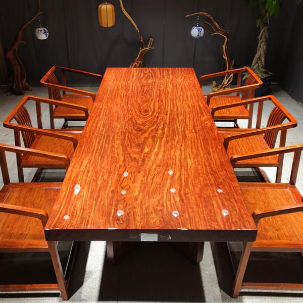 巴花大板桌哪里买 品质好的巴西花梨木实木大板桌哪里买