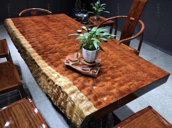福建热销巴西花梨木实木大板桌厂家直销,巴花大板桌哪家好
