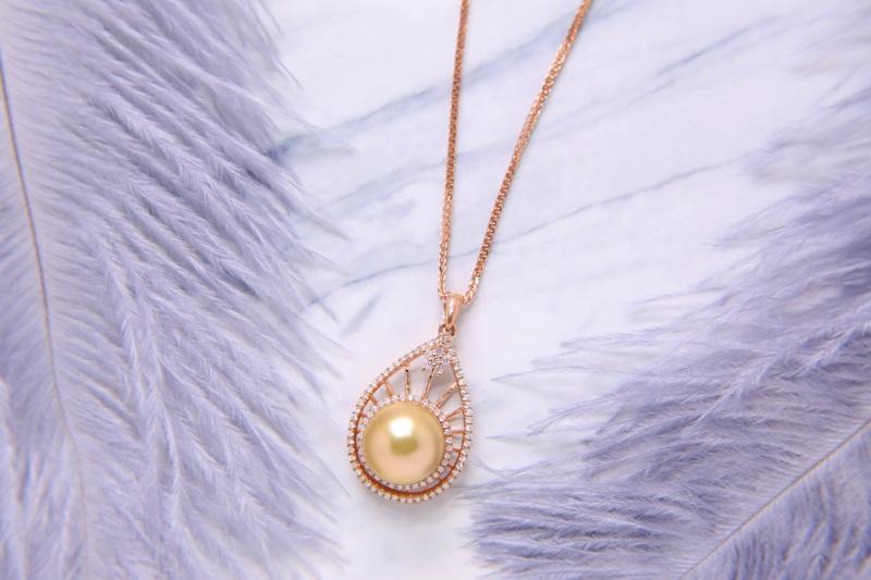 南洋珍珠吊墜動態-精致的南洋珍珠珠寶首要選擇金麒福珠寶