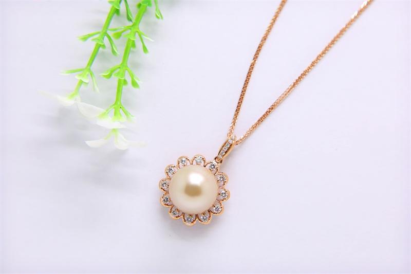南洋金珍珠加工-肇庆热卖金色珍珠项链供应