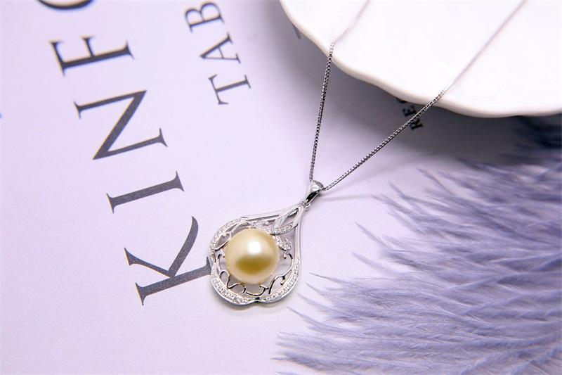 南洋金珍珠厂家-哪里有卖价位合理的金色珍珠项链
