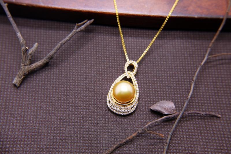 南洋金珍珠供應商|要買口碑好的金色珍珠項鏈優選金麒福珠寶