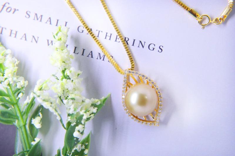 珍珠加工样品-供应肇庆热销海水珍珠项链