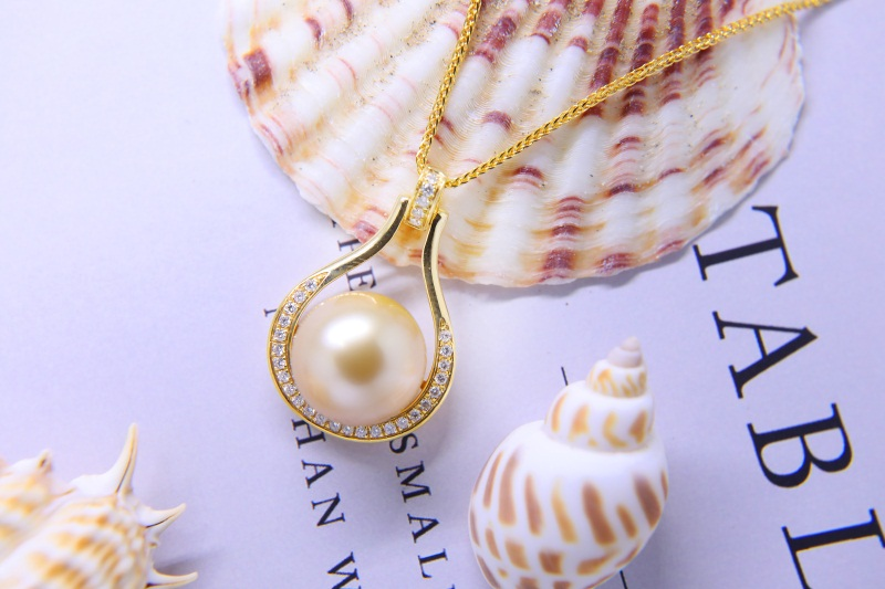 大溪地金色珍珠|在哪能買到新品海水珍珠項鏈