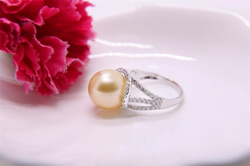 大溪地黑珍珠款式_设计新颖的南洋珍珠戒指首要选择金麒福珠宝