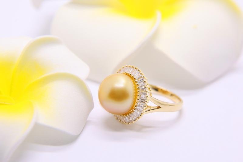 大溪地黑珍珠款式-物美价廉的南洋珍珠戒指推荐