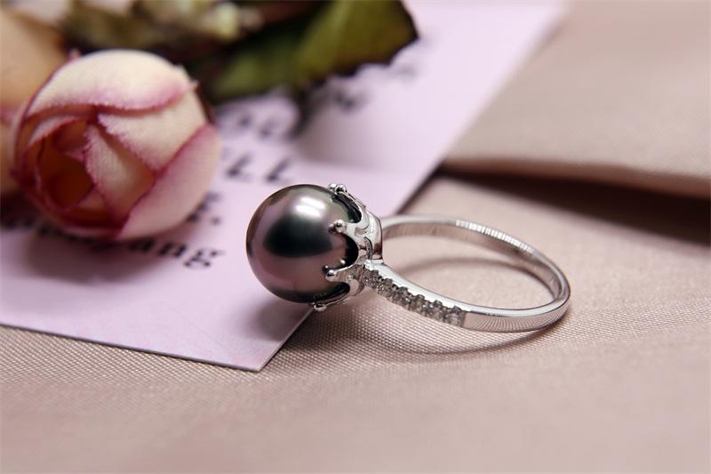 大溪地黑珍珠15mm價格_肇慶哪里有供應物超所值的黑珍珠戒指