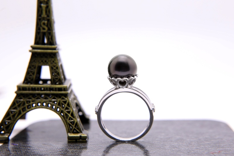 大溪地黑珍珠10mm價格_哪里能買到新品黑珍珠戒指
