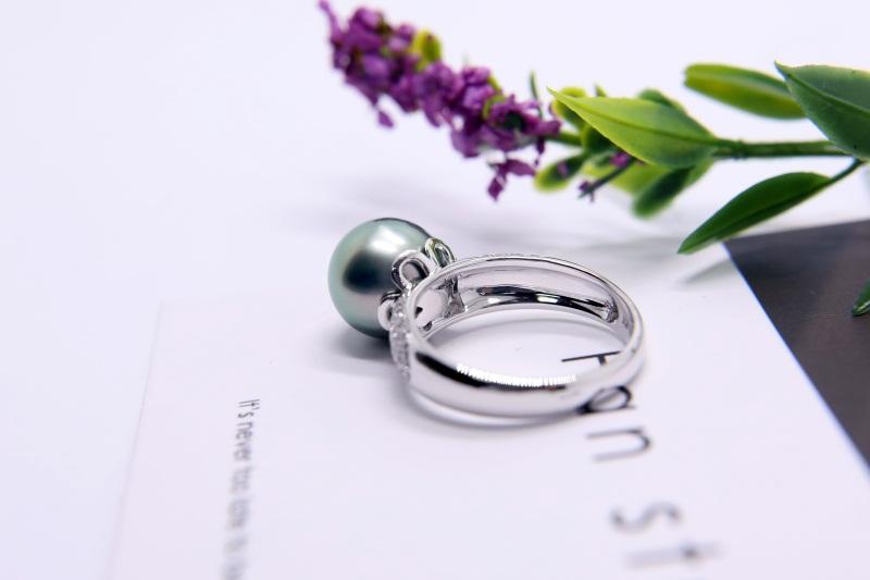 香奈儿珍珠耳坠图片-肇庆销量好的黑珍珠戒指供应