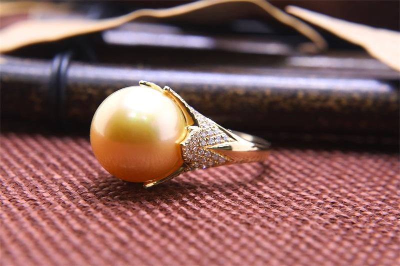 黑珍珠戒指图片-耐用的孔雀绿珍珠供应出售