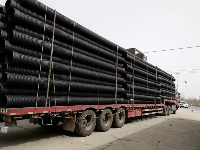 石嘴山双壁波纹管批发 鲁宁润通管业供应有品质的大武口双壁波纹管