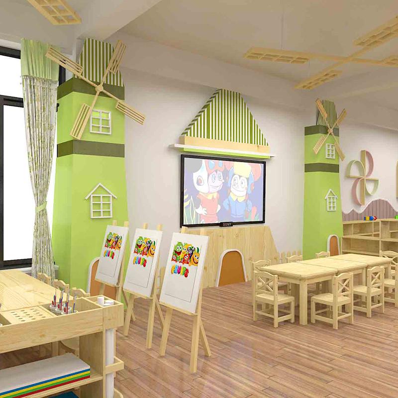 幼儿园装修设计厂家哪家好|牧童早教主题教室定制
