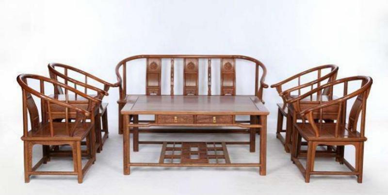 雞翅木實木茶幾茶桌椅組合