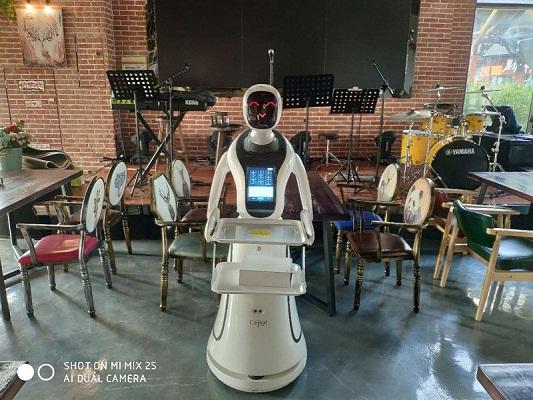徐州智能送餐机器人-苏州市销量好的科奥展馆展厅餐厅机器人