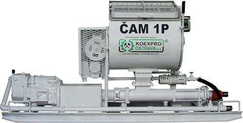 带搅拌机的气动螺杆泵 CAM 1P