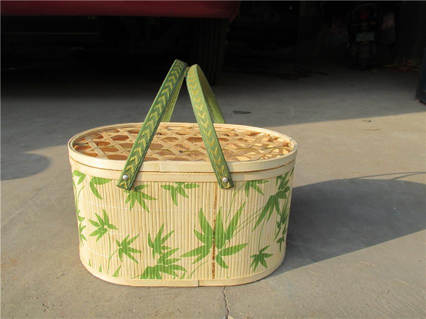 销量好的椭圆形印花竹篮出售|山西奇特的鸡蛋篮